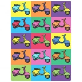 Red Hot Lemon Vespa Pop Art Wall Sign