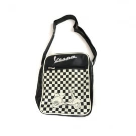 Fiesta Studios Vespa Shoulder Bag Black and White Chequered