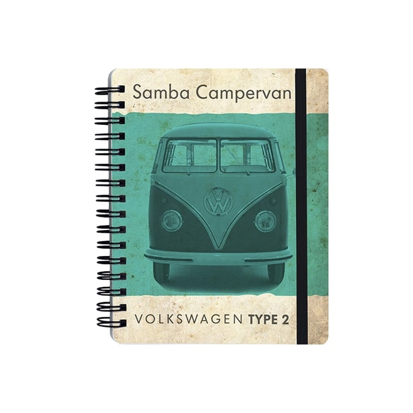 Brisa Vintage Green VW Type 2 A6 Notepad