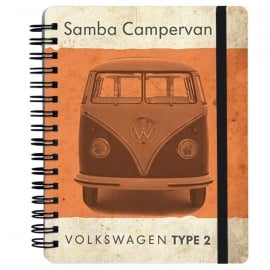 Brisa Vintage Orange VW Type 2 A6 Notepad