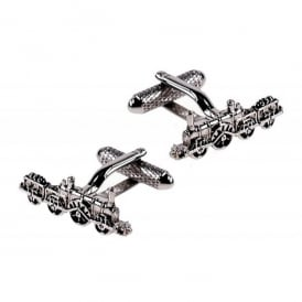 Onyx-Art Vintage Train Cufflinks