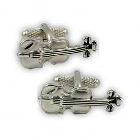 Onyx-Art Violin Cufflinks