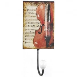 Orchid Designs Violin Manuscript Small Wall Hook