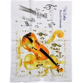 Little Snoring Violin Tea Towel