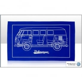 Elgate VW Camper Cross Section Tea Towel