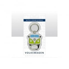 Elgate VW Campervan Green Bottle Opener Keyring