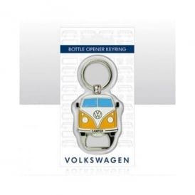 Elgate VW Campervan Orange Bottle Opener Keyring