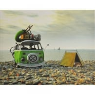 Brisa VW Canvas Wall Art - No Camping