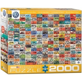 EuroGraphics VW Groovy Bus Collage Jigsaw (2000 Pieces)