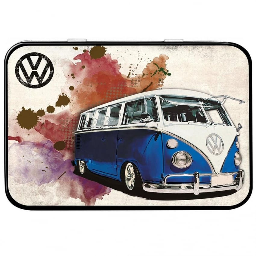 Red Hot Lemon VW Grunge Blue Keepsake Tin