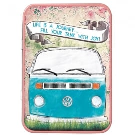 Red Hot Lemon VW Life Is A Journey Keepsake Tin
