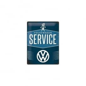 Casa Grande VW Mr Bubblehead Service Tin Sign