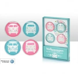 Elgate VW Patterned Glass Fridge Magnet Set of 4