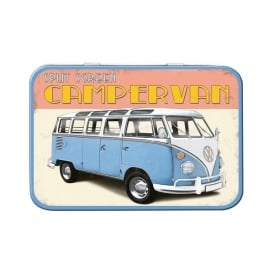Red Hot Lemon VW Retro Camper Keepsake Tin