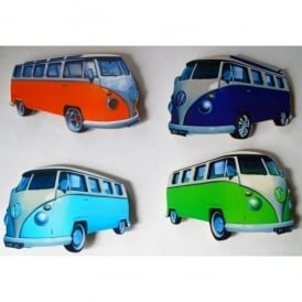 Lark Designs VW Samba Blue Cut Jumbo Fridge Magnet