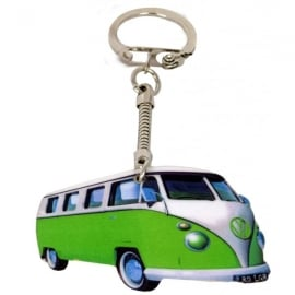 Lark Designs VW Split Screen Green Cut Out Keyring