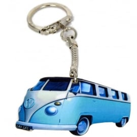Lark Designs VW Split Screen Light Blue Cut Out Keyring
