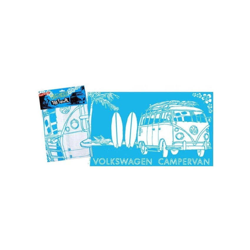 Elgate VW Surf Blue Tea Towel