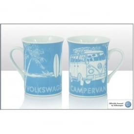 Elgate VW Surf Sketch Blue Campervan Mug