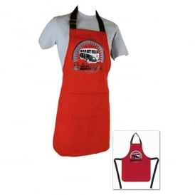 Vento VW T1 Bus Kitchen Apron in Red