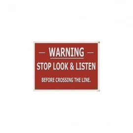Original Metal Sign Company Warning - Stop Look and Listen Fridge Magnet