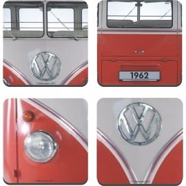 Half Moon Bay Westfalia T2 VW Front Coaster - Set of 4