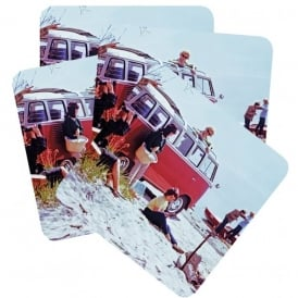 Half Moon Bay Westfalia T2 VW Holiday Coaster - Set of 4