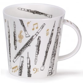 Dunoon Wind Instruments Encore Cairngorm Fine China Mug