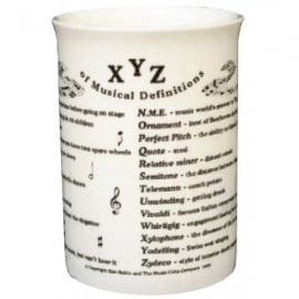 Music Gifts Company XYZ Of Music Bone China Mug