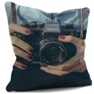 House Of Cushions Zenit Camera Filled Cushion